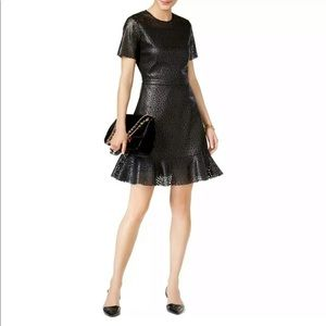 Michael Kors Faux Leather Cocktail Dress SIze 6